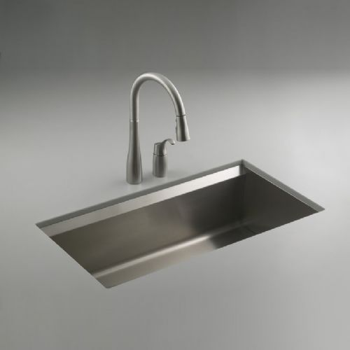 Kohler 8 Degree Stainless Steel Kitchen Sink - 3673-NA